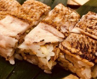 焼のどぐろの押し寿司1800円(税込)
