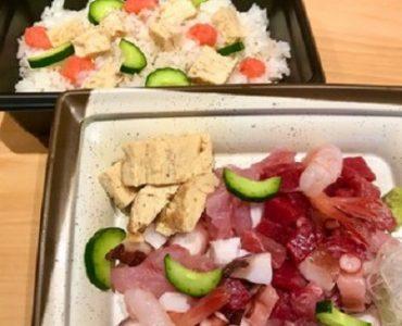 本マグロを使った海鮮チラシ1200円(税込)